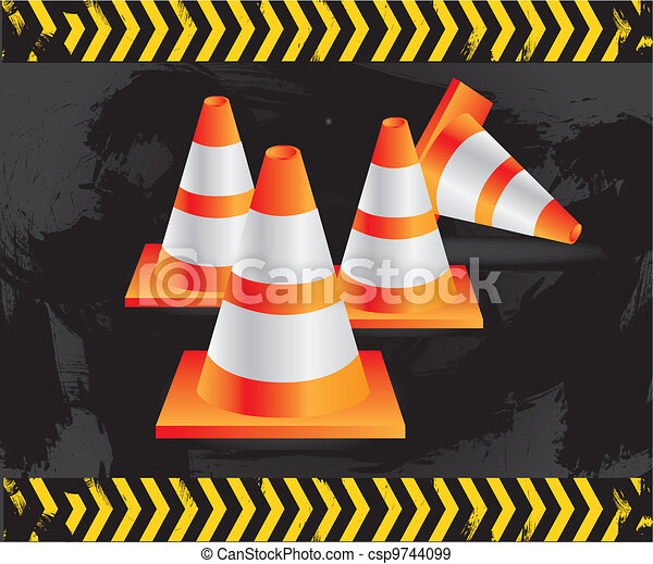 traffic cones  - csp9744099