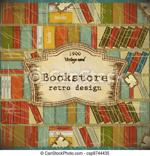 Vintage Book Background in scrapbooking style - csp9744435