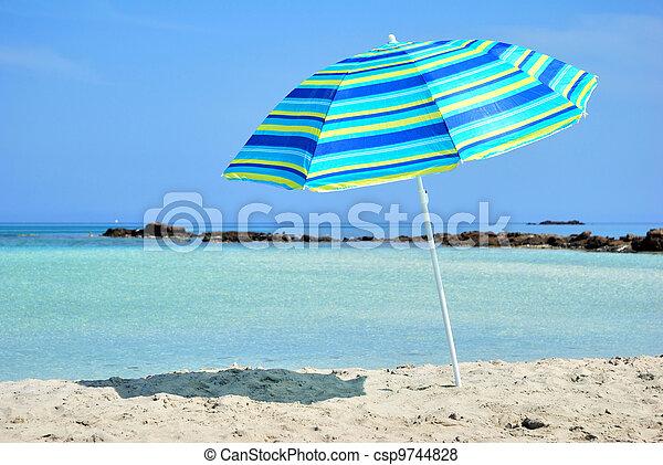 Sun Umbrella and Sea - csp9744828