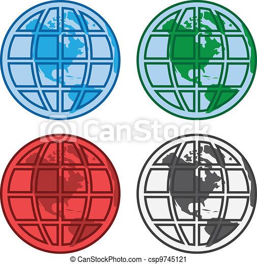 Globe Graphics Clip Art