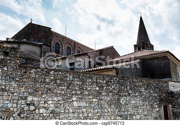 Euphrasius Church in Porec, Croatia - csp9745713