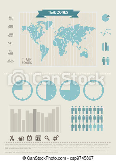 World Map and Information Graphics elements - csp9745867