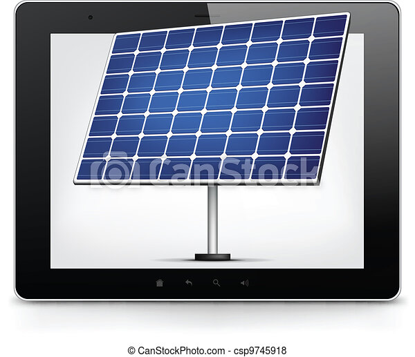 Tablet PC. Vector EPS 10. - csp9745918