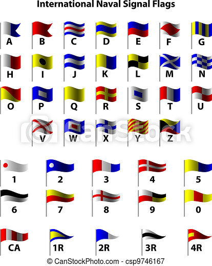 International Naval Signal Flags - csp9746167