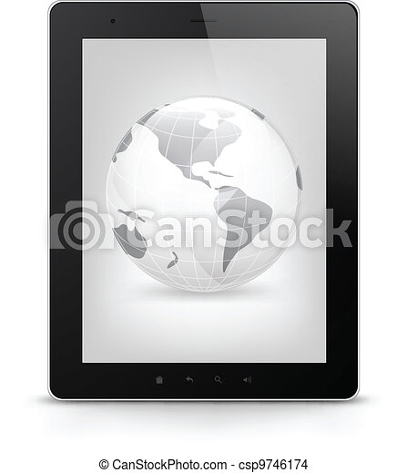 Tablet PC. Vector EPS 10. - csp9746174