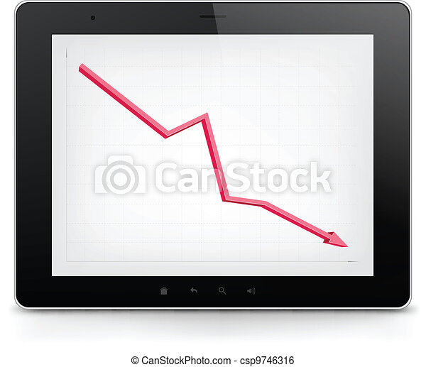 Tablet PC. Vector EPS 10. - csp9746316