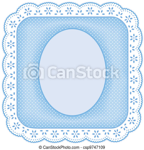 Picture Frame, White Eyelet Lace - csp9747109