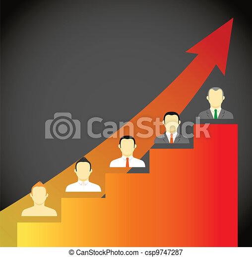 Growing ledder abstract scheme - csp9747287