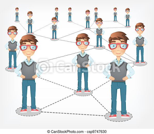 Social Network. Vector EPS 10. - csp9747630