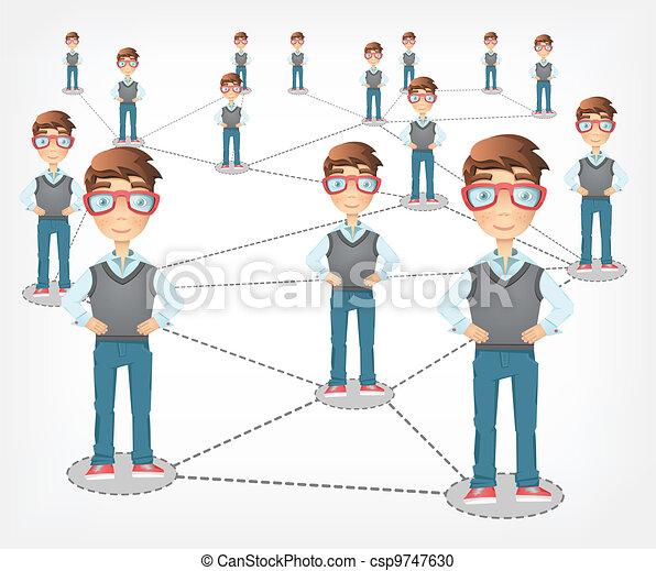 Social Network. Vector EPS 10. - csp9747630