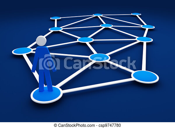3d human looking for social network community on nobody - csp9747780
