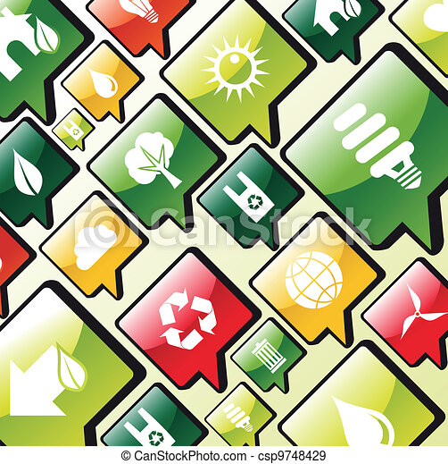 Green environment apps icons background - csp9748429