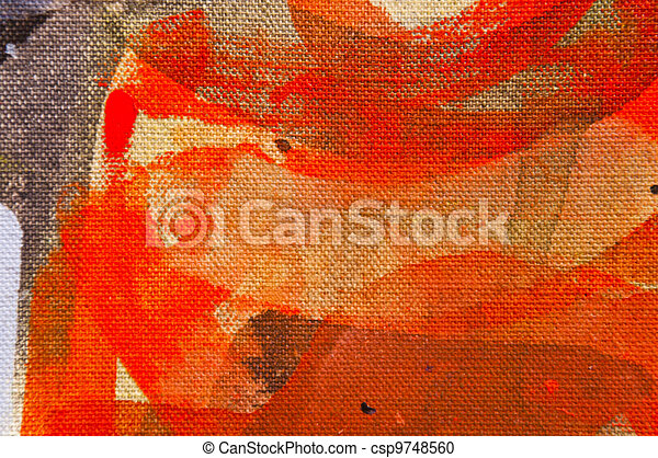 Oil Painting Texture - csp9748560