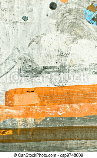 Oil Painting Texture - csp9748609