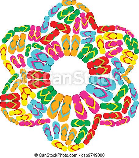Flip flops flower - csp9749000