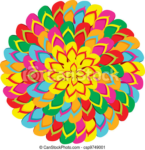 Flip flops mandala summer background - csp9749001