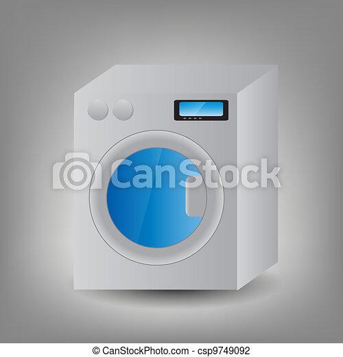 Washing Machine icon vector illustration - csp9749092