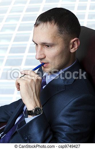 Young adult businessman - csp9749427