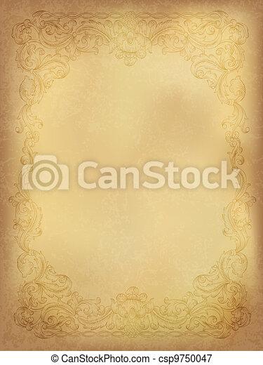 Vintage ornamental frame - csp9750047