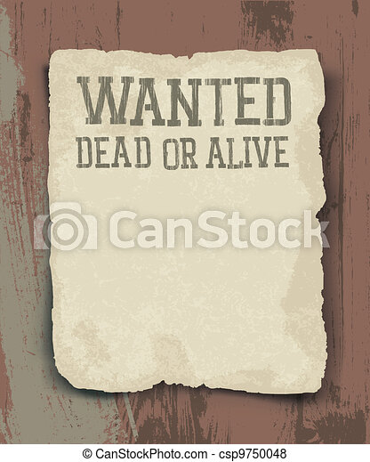 Wanted dead or alive. Vintage poster - csp9750048