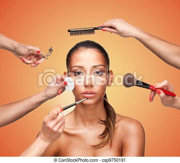 Glamour makeover for a beautiful woman - csp9750191