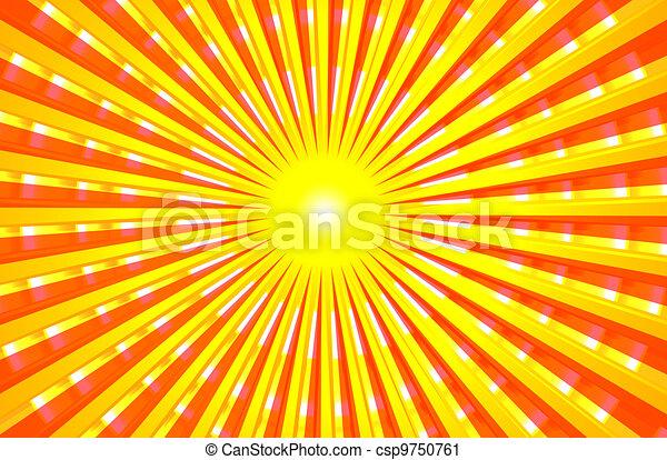 Sun Shining Drawing Hot Shining Summer Sun