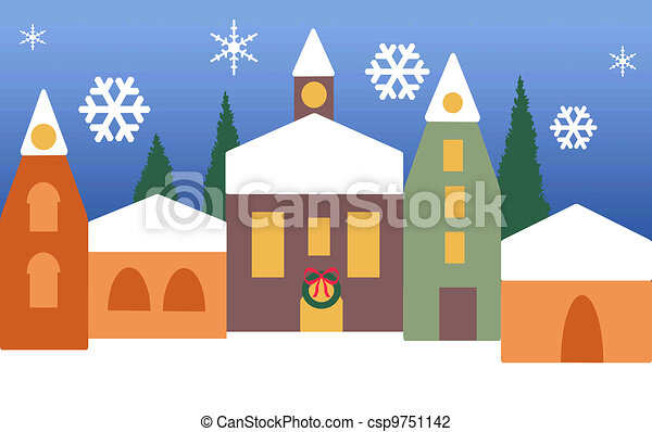 Christmas village - csp9751142