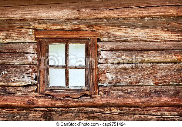 Photo de bois mur fen tre vieux petit a petit for Fenetre qui rentre dans le mur
