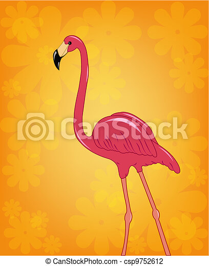 Beautiful pink flamingo - csp9752612