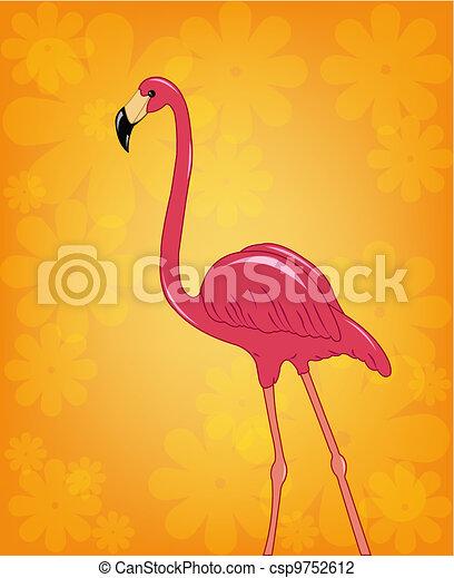 Beautiful pink flamingo - csp9752612