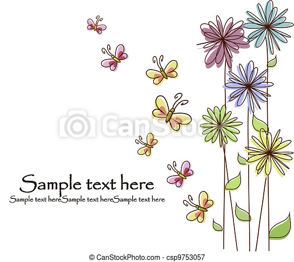 Beautiful flower card - csp9753057