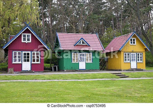 Three summer houses - csp9753495