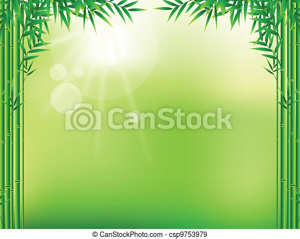 bamboo leaf frame - csp9753979