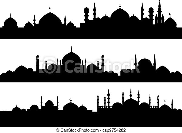 Muslim cityscapes - csp9754282