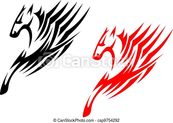 Tribal stallions - csp9754292