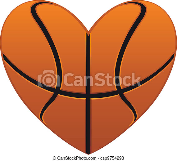 Basketball heart - csp9754293