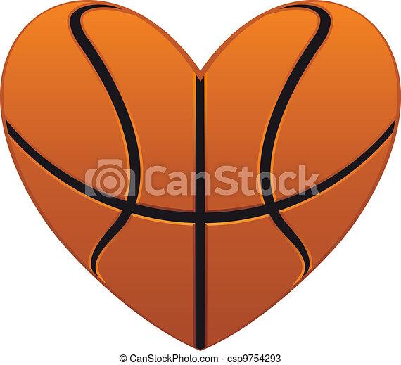 Basketball heart - csp9754293