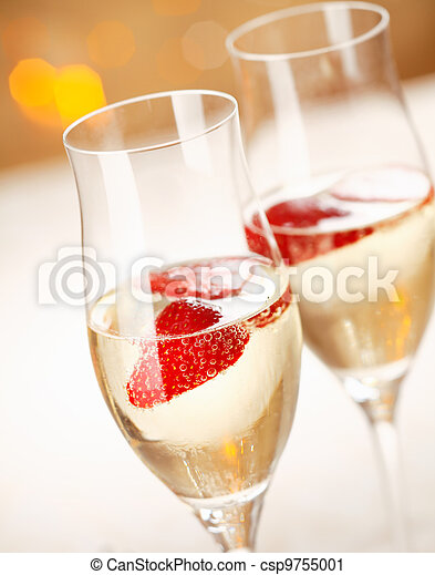 Strawberry and champagne