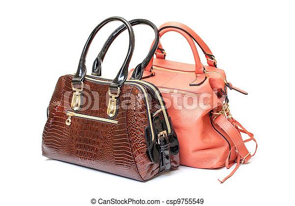Two Leather Ladies Handbag - csp9755549