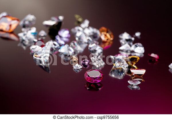 Set of many different gemstone - csp9755656