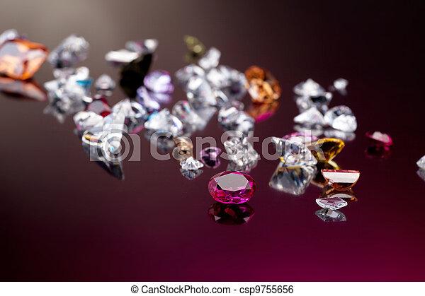 Set of many different gemstone - csp9755656