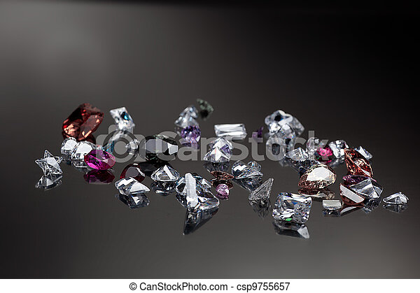 Set of many different gemstone - csp9755657