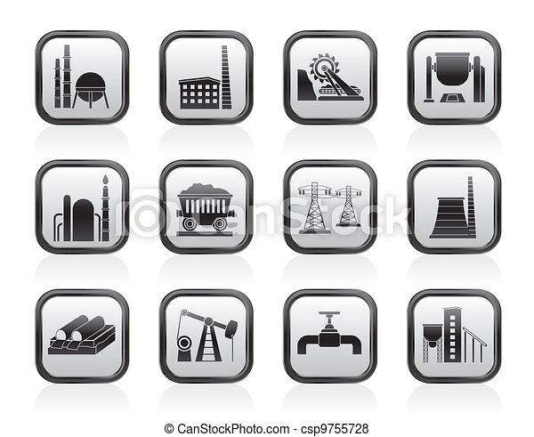 Heavy industry icons - csp9755728