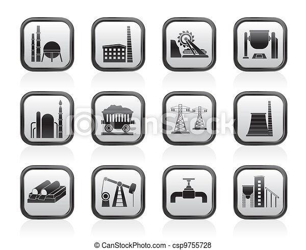Heavy industry icons - csp9755728