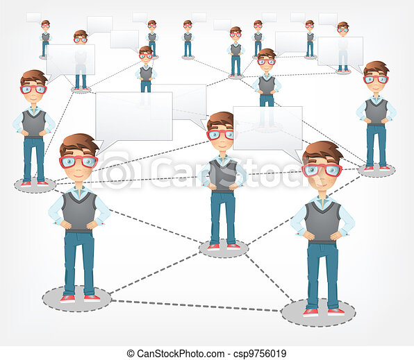 Social Network. Vector EPS 10. - csp9756019