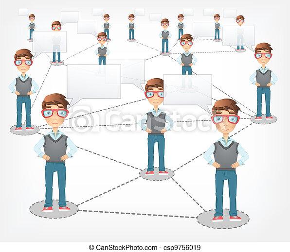 Social Network. Vector EPS 10. - csp9756019