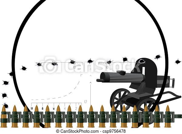 Machine gun and machine-gun belt - csp9756478