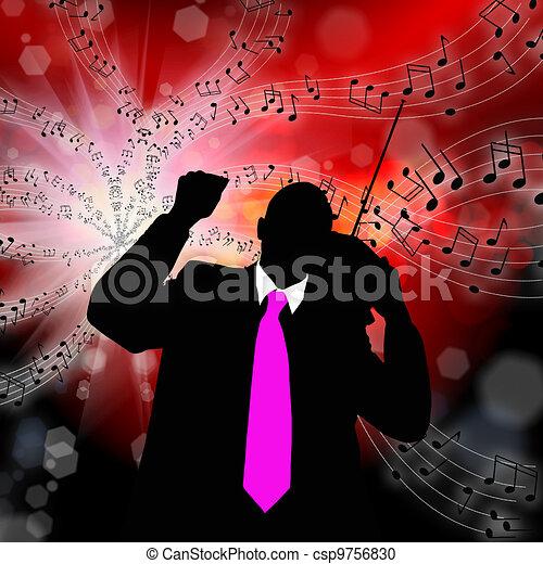 The nostalgia retro musical melody - csp9756830