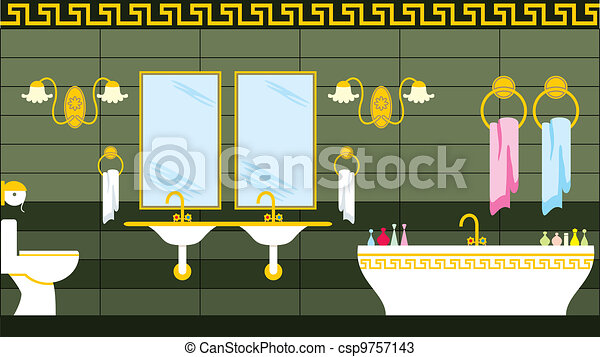 Bathroom in the Greek style - csp9757143