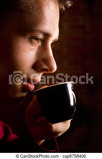 nice coffee drinking - csp9758406